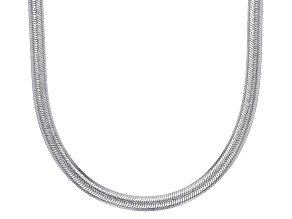 Sterling Silver 2MM Flat Herringbone Necklace 18 Inch