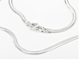 Sterling Silver Flat Herringbone Necklace 20 Inch