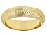 18K Yellow Gold Over Sterling Silver Diamond Cut Satined Band Ring