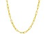 18K Yellow Gold Over Sterling Silver Diamond Cut Open Cable Chain Necklace 20 Inch
