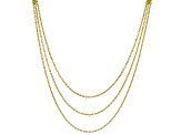 18K Yellow Gold Over Silver Bismark With Graduated Rolo Link Necklace 18 Inch With 2