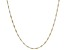 Sterling Silver & 18K Yellow Gold Over Silver Diamond Cut Square Snake Chain Necklace 20 Inch