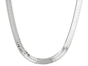 Sterling Silver 7mm Herringbone Chain Necklace