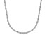 Sterling Silver Diamond Cut Rope Chain Necklace 18