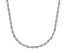 Sterling Silver Diamond Cut Rope Chain Necklace 20