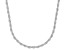 Sterling Silver Diamond Cut Rope Chain Necklace 24
