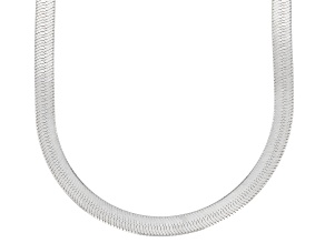 Sterling Silver Herringbone Chain Necklace 20 Inch