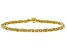 18K Yellow Gold Over Sterling Silver Byzantine Bracelet With Magnetic Clasp 8 Inch