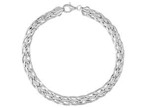 Designer Curb Link Sterling Silver Bracelet 8 Inch