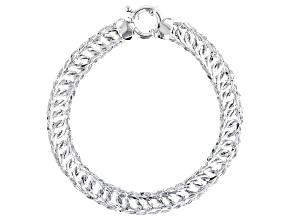 Sterling Silver Designer Curb Link Bracelet 8 Inch