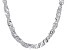 Sterling Silver 3.5MM Singapore Link Chain Necklace 24 Inch
