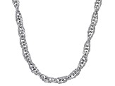 Sterling Silver 4MM Torchon Rope Chain Necklace 18 Inch