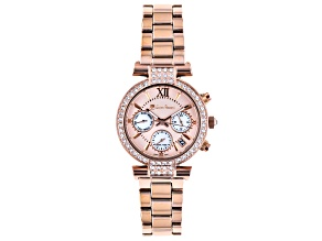 Lucien Pezzoni Swarovski Crystals 36mm Case Watch