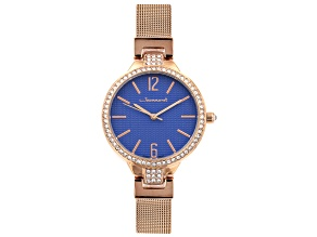 Jeanneret Luxury 34mm Case Mesh Band Ladies Watch