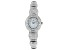 Adee Kaye™ White Crystal Mother of Pearl Dial Silver Tone Rhodium Over Base Metal Watch.