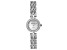 White Cubic Zirconia Rhodium Over Brass Ladies Wrist Watch 1.45ctw