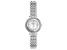 White Cubic Zirconia Rhodium Over Brass Ladies Wrist Watch 2.13ctw