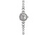 White Cubic Zirconia Rhodium Over Brass Ladies Wrist Watch 0.98ctw