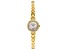 White Cubic Zirconia 18K Yellow Gold Over Brass Ladies Wrist Watch 0.98ctw