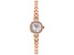 White Cubic Zirconia 18K Rose Gold Over Brass Ladies Wrist Watch 0.98ctw