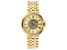 Carrero™ White Crystal Dial Gold Tone Stainless Steel Watch.