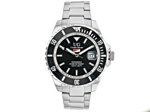 Ulysse Girard Blue Fin Stainless Steel Men's Sport Divers Watch Black Dial Black Bezel