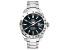Ulysse Girard Marlin Stainless Steel Men's Sport Divers Watch Black Dial Silver Tone Bezel