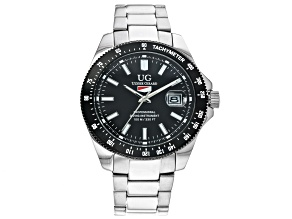 Ulysse Girard Marlin Stainless Steel Men's Sport Divers Watch Black Dial Black Bezel