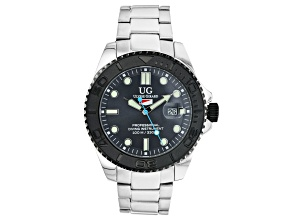Ulysse Girard Shark Stainless Steel Men's Sport Divers Watch Gray Dial Black Bezel