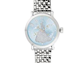 Disney ® Ladies Silver Tone Cinderella Watch.