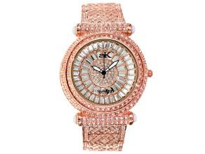 Adee Kaye Beverly Hills Crystal Rose Tone Watch.