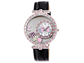 Disney Ladies Minnie Mouse Floating Charm Watch.