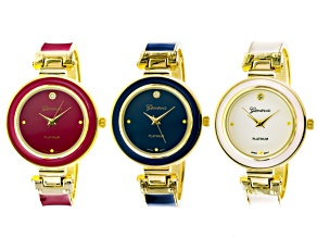 Ladies Navy Red Ivory Watch Set