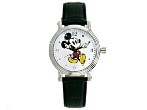 Disney ® Ladies Mickey Mouse Black Strap Watch.