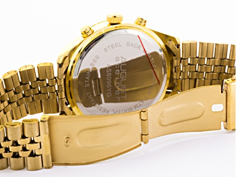 His & Hers Gold Tone Watch Set Of 2