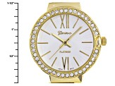 Ladies White Crystal Three Tone Watch Set Of 3