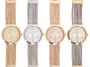 Ladies Silver Tone Gold Tone Rose Tone And Two Tone Watch Set Of 4