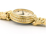 White Crystal Yellow Watch