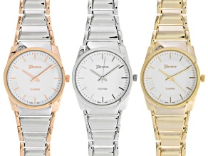 Ladies Three-Tone Watch Set Of 3