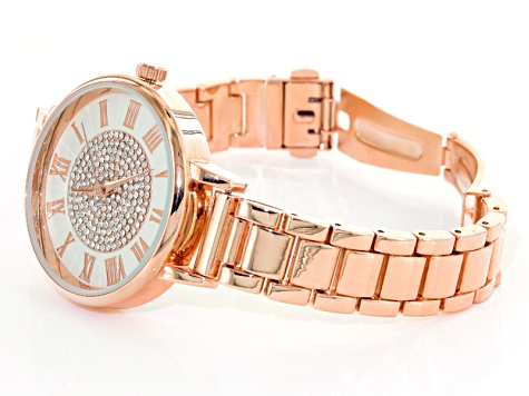 White Crystal Silver Tone Gold Tone And Rose Tone Watch Set Of 3