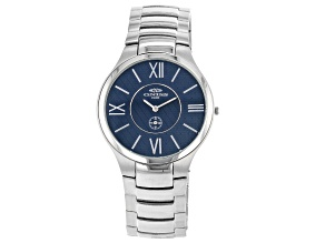 Oniss™ Blue Dial Stainless Steel Gent's Watch.