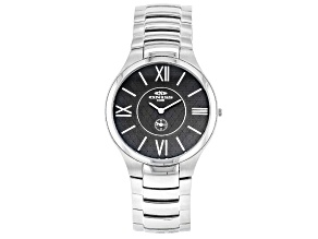 Oniss™ Black Dial Stainless Steel Gent's Watch.