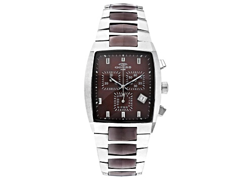 Brown Stainless Steel and Ceramic Gents Watch