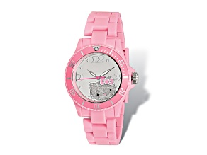 Hello Kitty® Mirror Dial Pink Acrylic Strap Watch