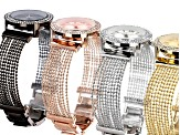 Ladies White Crystal Four Tone Multistrand Watch Set Of 4