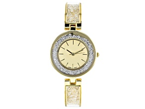 Ladies Gold Tone & Crystal Watch