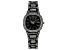Ladies Gun Metal & White Crystal Watch