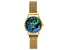 Ladies Watch With Abalone Dial Gold Tone Stainless Steel Mesh Band With Magnetic Clasp