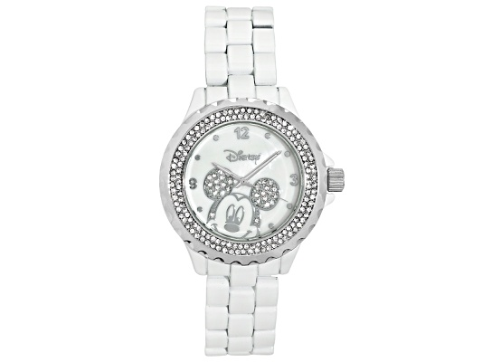 Disney(R) Ladies Mickey Mouse Crystal And Mother Of Pearl Watch