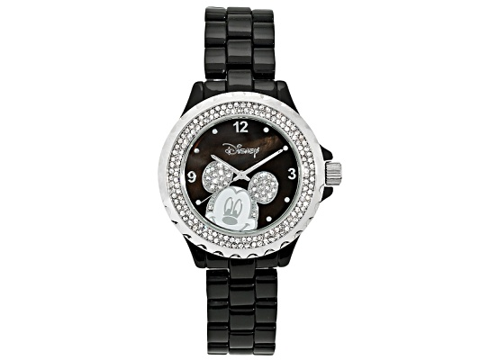 Disney(R) Mickey Mouse Crystal Black Watch